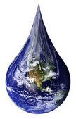 Earth as a teardrop — Stock Photo