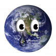 Stock Photo: Earth with teardrop