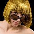 Gold hair women — Stock Photo