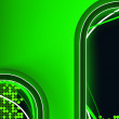Green Neon Background with Copyspace — Stock Vector