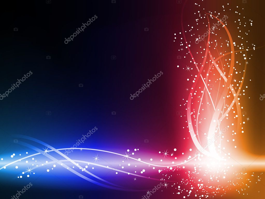 Colorful Glowing Lines Background. Editable Vector Illustration — Stock Vector #3006050