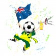 Royalty-Free Stock Vector Image: Australia Soccer Fan with Ball Head