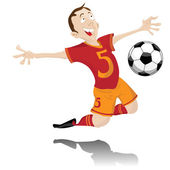 Spain Soccer Fan with Ball Head. — Stock Vector