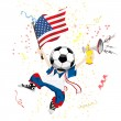 United States of America Soccer Fan — Stock Vector
