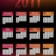Royalty-Free Stock Vector Image: 2011 Glowing Neon Calendar.