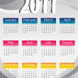 Calendar 3d 2011 - Vettoriali Stock 