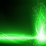 Green Background Stars Swirls — Stock Vector