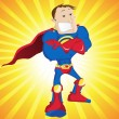 Super Man Hero Dad. — Stockvectorbeeld