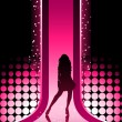 Sexy fashion girl in catwalk - Stock Vector