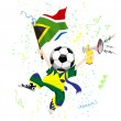 Royalty-Free Stock Vector Image: South Africa Soccer Fan with Ball Head.