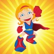 Super hero Girl. — Stockvectorbeeld