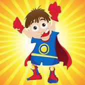Super-helden junge. — Stockvektor