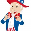 Stock Vector: Uncle Sam United States of America.