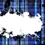 Checkered Blue Grunge Background. — Stock Vector