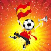 Spain Soccer Winner. — Stock Vector