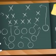 Teamwork Football Game Plan Strategy - Vettoriali Stock