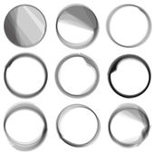Series of hand drwn ink circles. — Stock Vector