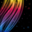 Royalty-Free Stock Vector Image: Abstract Colorful Waves on Black Background