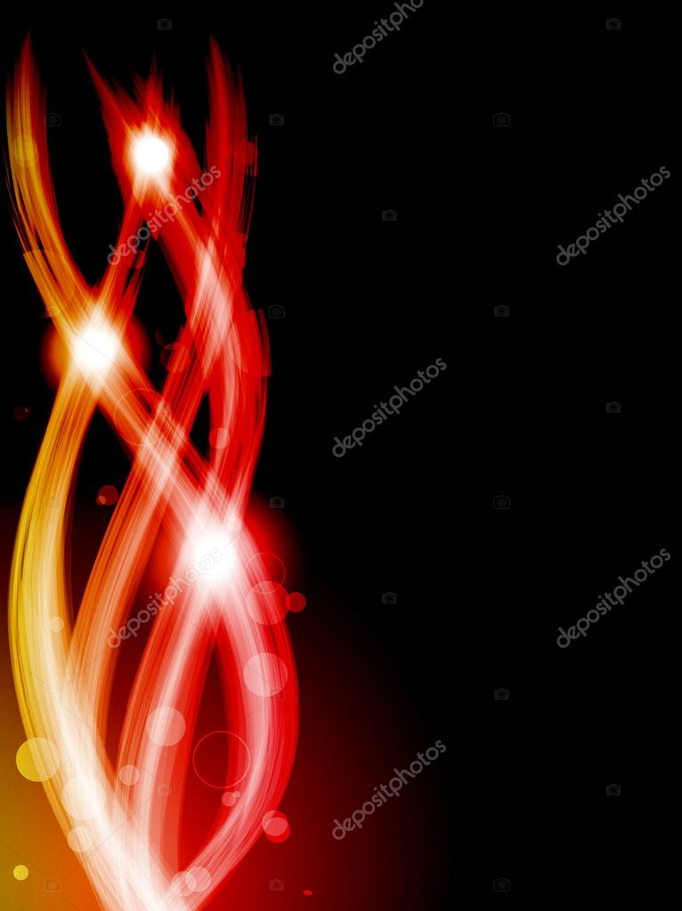 Vector - Abstract Colorful Waves on Black Background — Stock Vector #3577110