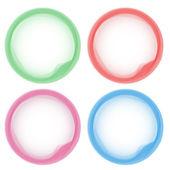 抽象的なパステル調の色鮮やかなアクア円 — ストックベクタ