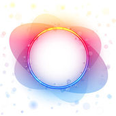 Rainbow Circle Border Transparency Effect. — Stock Vector