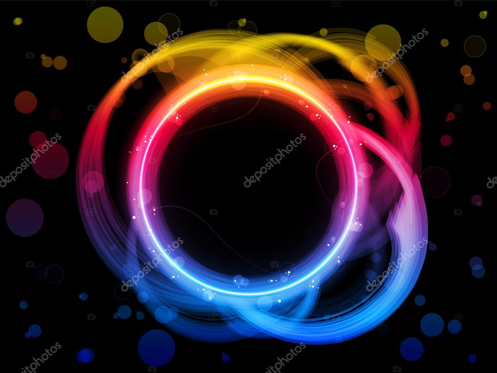 Rainbow Circles Wallpaper Vector Rainbow Circle Border