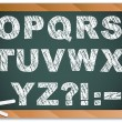 Chalk Alphabet on Blackboard - Stock Vector