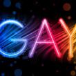 Royalty-Free Stock 矢量图片: Gay Pride Abstract Colorful Waves on Black Background