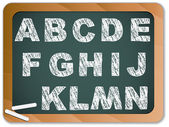 Chalk Alphabet on Blackboard — Stock Vector