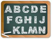 Chalk Alphabet on Blackboard — Stock Vector