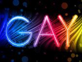 Eşcinsel gurur soyut renkli dalgalar üzerinde siyah arka plan — Stok Vektör