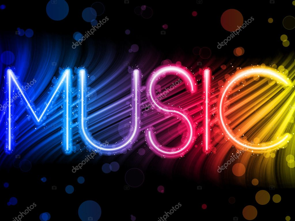 Vector - Music Party Abstract Colorful Waves on Black Background  Stock Vector #3818750