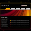 Royalty-Free Stock Vector Image: Website Layout Template in Red and Yellow Colors