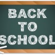 Blackboard with Back to School Message written with Chalk — Stock Vector
