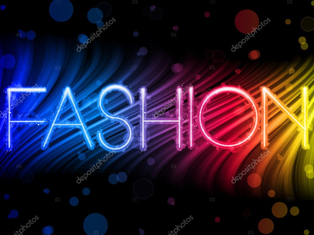 Vector - Fashion Abstract Colorful Waves on Black Background — Stock Vector #3918203