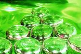 Pyramid on Drugs - green tone — Stock Photo