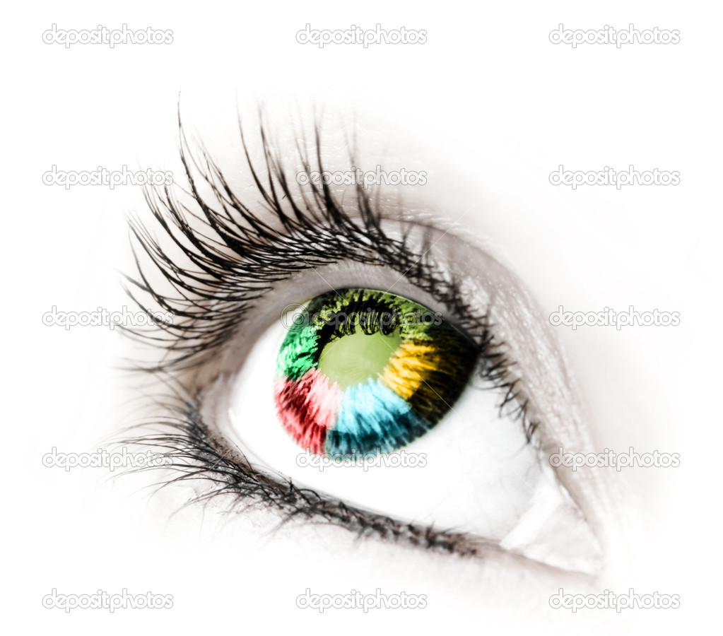 Great big eye. Macro.  Stock Photo #2710888