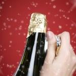 Opening champagne bottle — Stock Photo #2736330
