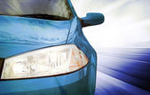 Blue Sport Car - Front side — Stock Photo