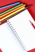 Pencil and agenda — Stock Photo