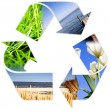 Foto Stock: Recycle symbol .