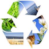 Recycle symbol . — 图库照片
