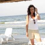Girl on the beach — Stock Photo #2880468