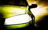 Grün Sport Auto - Vorderseite — Stockfoto