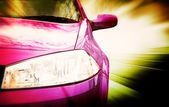 Pink Sport Car - Front side — Stock Photo