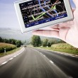 Stock Photo: GPS in mhand.