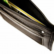 Stock Photo: Black leather wallet