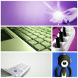 Tehnology collage — Stock Photo
