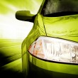 Green Sport Car - Front side — Stock Photo