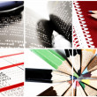 Comunication collage. — Stock Photo